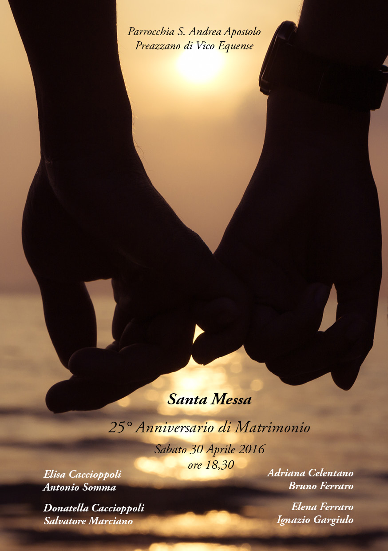 Famoso 25° Anniversario di Matrimonio AV08